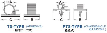 TS 粘着テープ式, PTS スナップ式